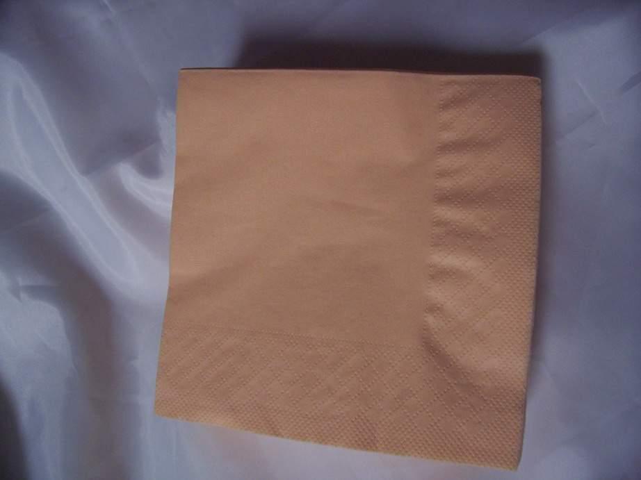 33*33 szalvéta (50 db/cs) barack,  2 rétegű