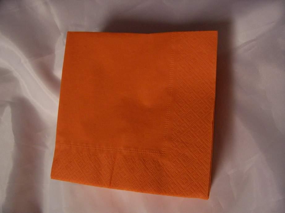 33*33 szalvéta (50 db/cs) narancs,  2 rétegű