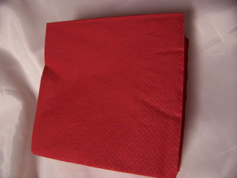 33*33 szalvéta (50 db/cs) piros,  2 rétegű