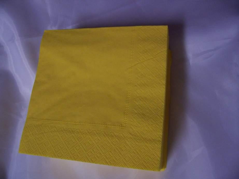 33*33 szalvéta (50 db/cs) citromsárga,  2 rétegű