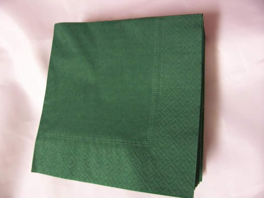 33*33 szalvéta (50 db/cs) sötétzöld, 2 rétegű