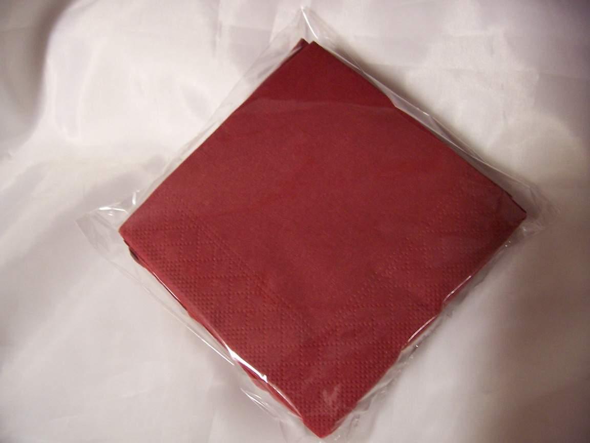 desszert szalvéta (50 db/cs) bordó, 2 rétegű