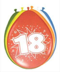 18. évszámos lufi (8 db/cs)