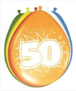 50. évszámos lufi (8 db/cs)