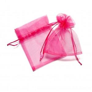 9*11 cm organza tasak pink (10 db)