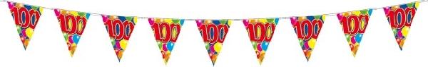 10 m hosszú zászlógirland 100