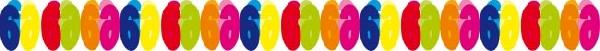 6.  színes papír számgirland (6m)