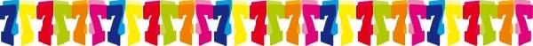 7.  színes papír számgirland (6m)
