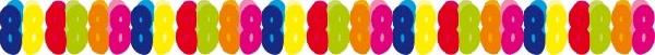 8.  színes papír számgirland (6m)