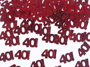 40. évszámos konfetti (14 gr.)