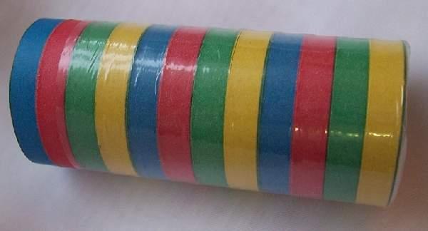 színes, csíkos szerpentin (18 tekercses)