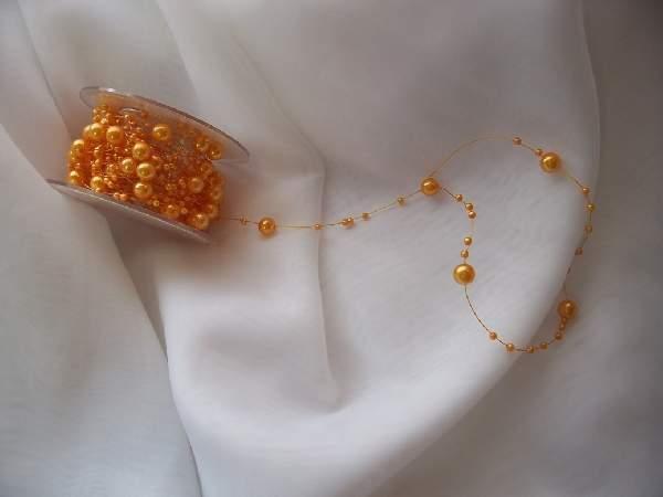 gyöngyboa narancs  GP21 ( 5 *1,2 m)