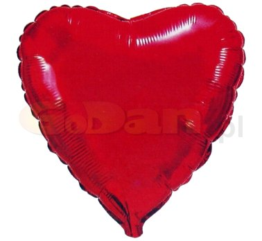 szív fólia lufi piros (45cm) SIMA