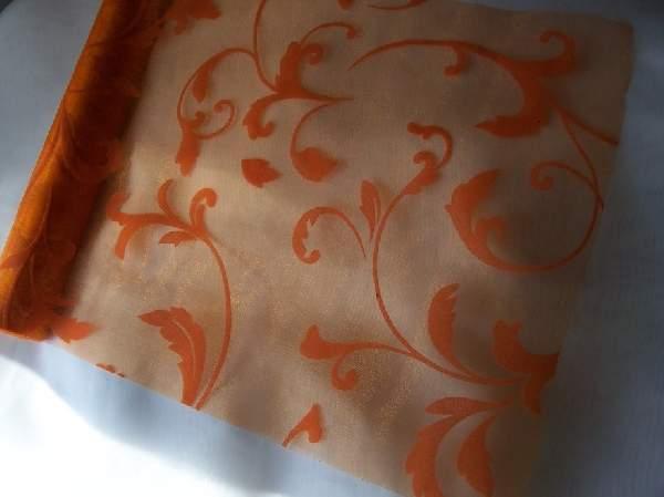 inda mintás narancs organza (47 cm * 5 m)