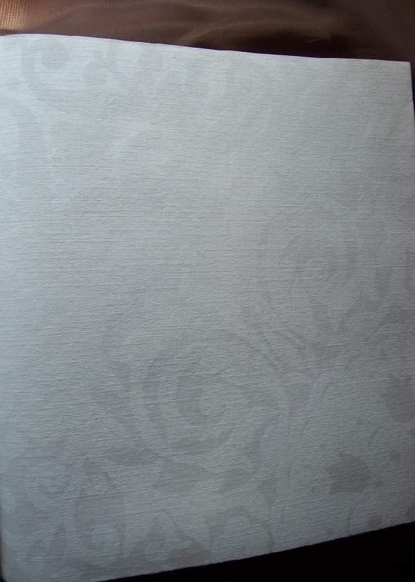 40*40 damaszthatású,  mintás szalvéta (50 db/cs) fehér-TORK
