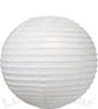 fehér papír lampion gömb 25 cm-es