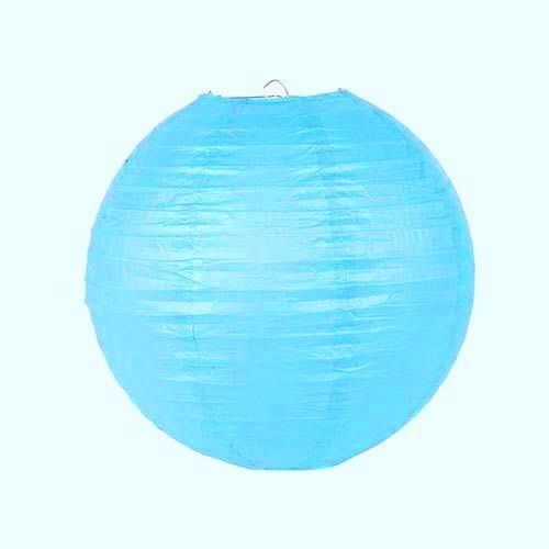 türkizkék papír lampion gömb 25 cm-es