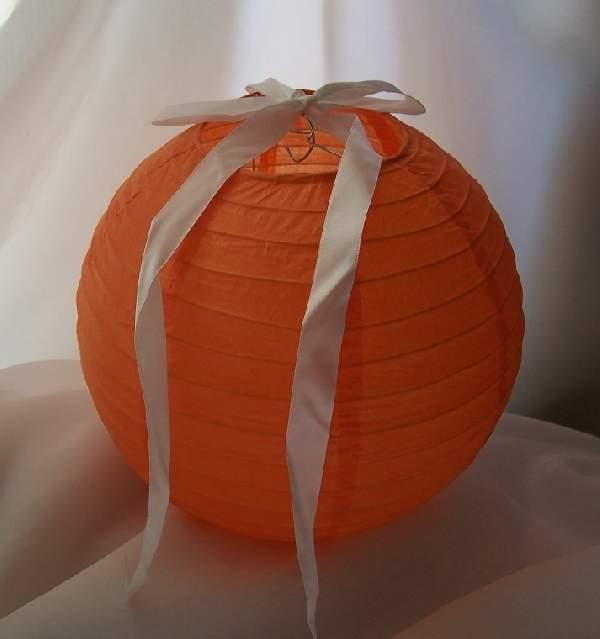 narancs papír lampion gömb 25 cm-es