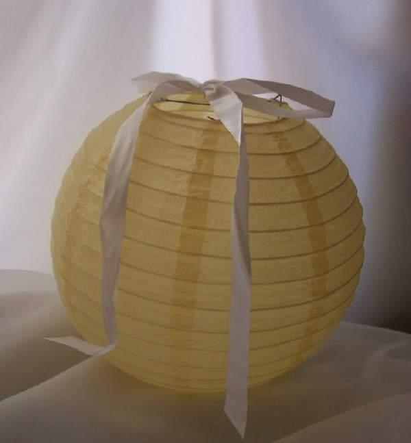 krém papír lampion gömb 40 cm-es (szalag nélkül)