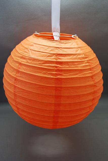 narancs papír lampion gömb 40 cm-es