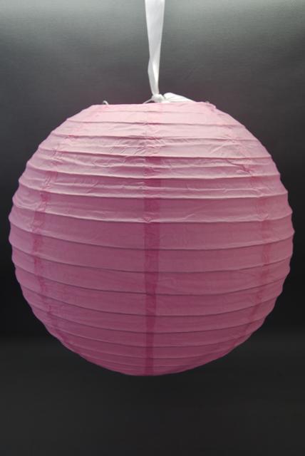rózsaszín papír lampion gömb 40 cm-es