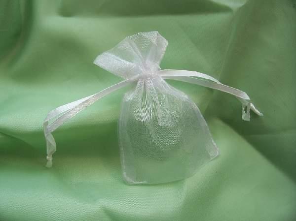 7,5*10 cm fehér organza tasak (20 db)
