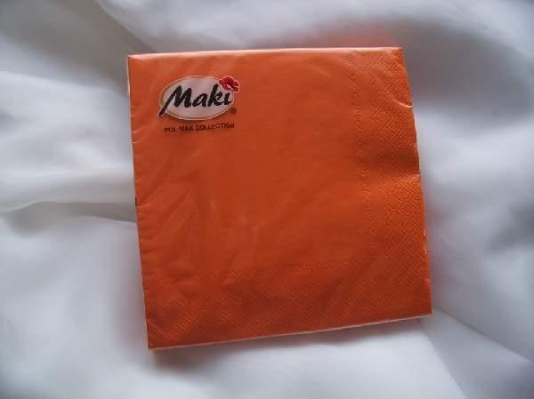 33*33 szalvéta, 3 rétegű (20 db/cs) narancs-005