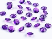 Gyémánt dekorkő slila (100 db)-(ADC12-105), 1,2 cm