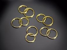 Arany gyűrűpár 25 db (1,5 cm-es)