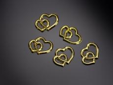 Arany szívpár 25 db (1 cm-es)