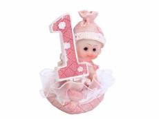 1 éves szülinapi dísz kislány (7 cm)