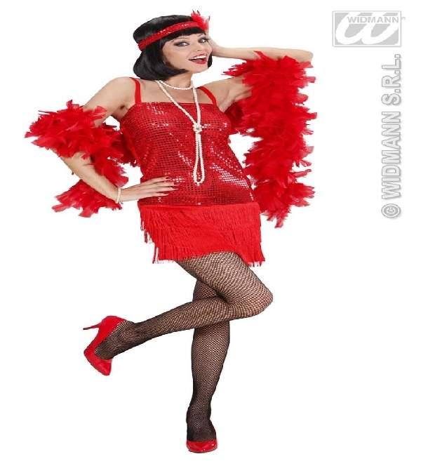 charleston női farsangi jelmez (42-44 méret) piros