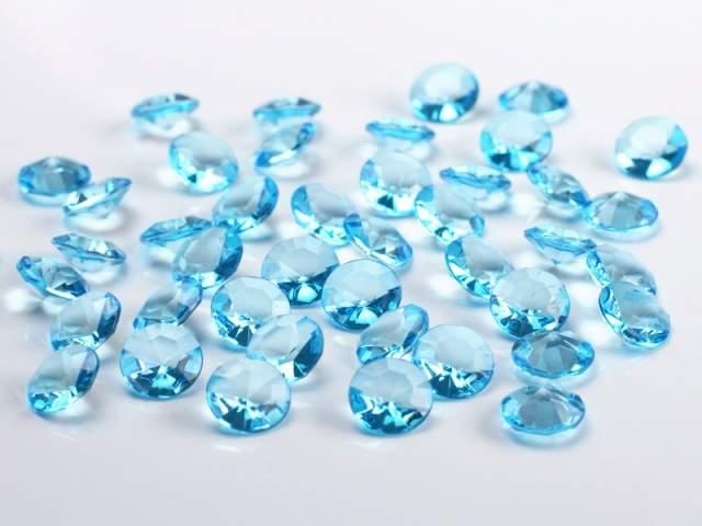 gyémánt dekorkő türkizkék (100 db), 1,2 cm