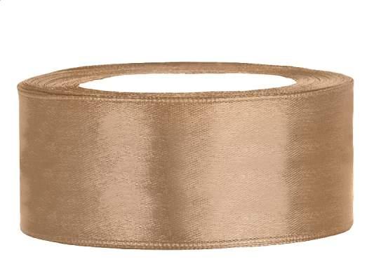 2,5 cm-s szatén szalag (25 m) arany(019J)