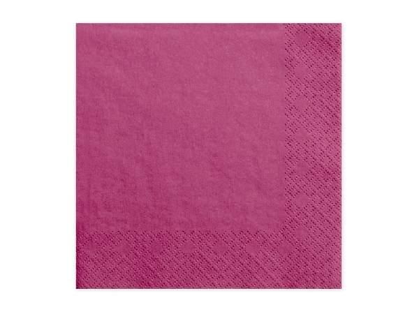 33*33 szalvéta, 3 rétegű (20 db/cs) pink-006