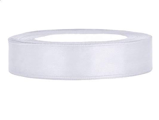 1,2 cm-s szatén szalag (25 m) fehér