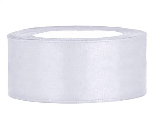 2,5 cm-s szatén szalag (25 m) fehér (008)