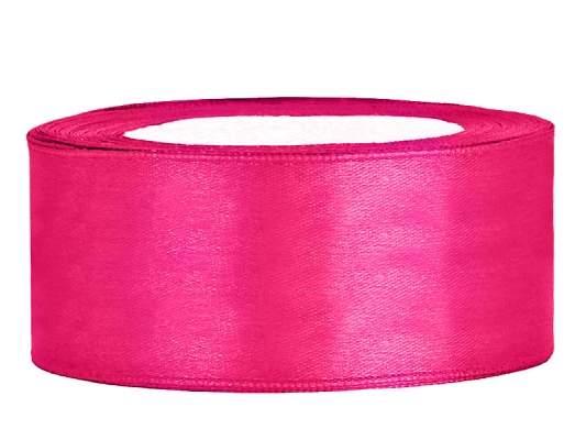 2,5 cm-s szatén szalag (25 m) pink (006)
