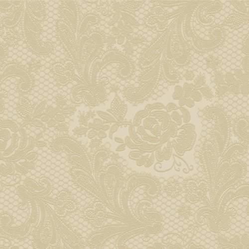 homokszín(7438) dombornyomott szalvéta 33x33  (15 db) LACE