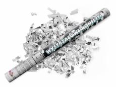 Konfetti ágyú ezüst konfettivel (60 cm)
