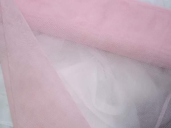 rózsaszín tüll dekoranyag (1,5 m széles)