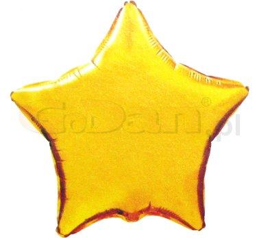 Csillag fólia lufi arany (45 cm)