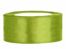 2,5 cm-s szatén szalag (25 m) fűzöld (102J)