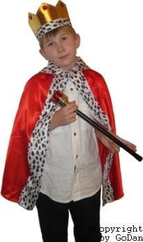 király gyerek farsangi jelmez (korona, jogar, palást)