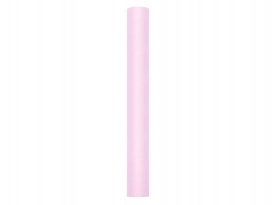rózsaszín tüll dekoranyag (30 cm*9 m)  puha