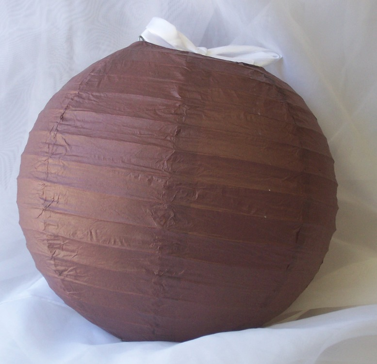 cappuccino papír lampion gömb 40 cm-es29666