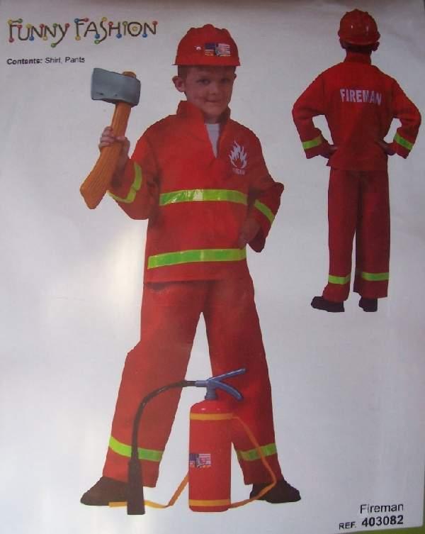 tűzoltó gyerek farsangi jelmez (140 méret)