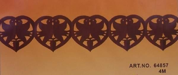 galam+szív girland 4 m, barna (64857)
