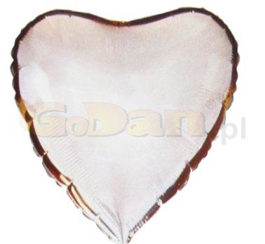 Szív alakú,  ezüst fólia lufi (45 cm)