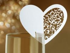 ültetőkártya csipkézett szív (10 db)- wsz4